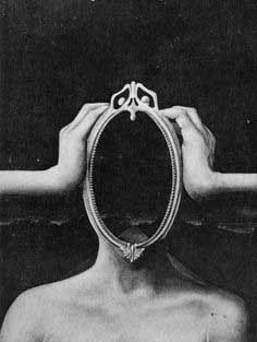 hands and empty mirror