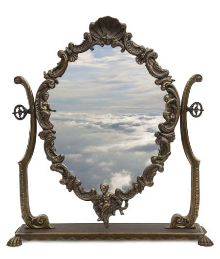 mirror and clouds