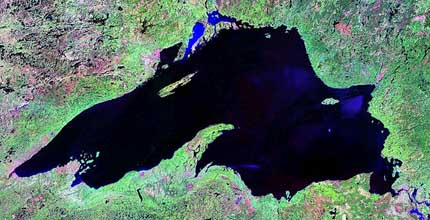 Lake Superior NASA sat image