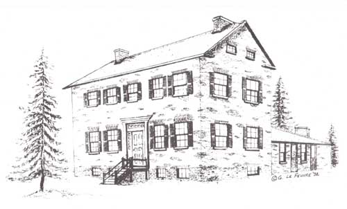 Sketch Of Bovaird House Brampton