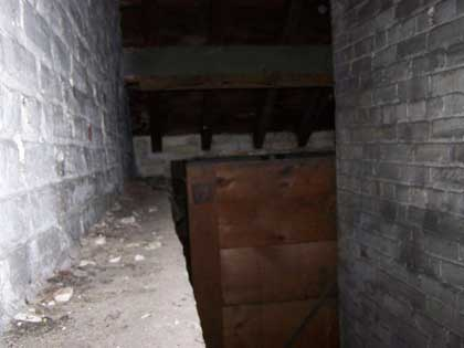Inside the Old Don Jail In Toronto. Alcove in the ceiling