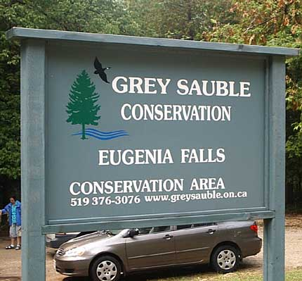 Grey Sauble Signpost Eugenia Falls