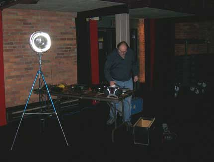 John setting up for EVP experiments