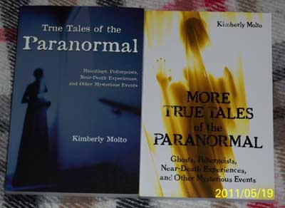 image of Kim Molto's books on the paranormal
