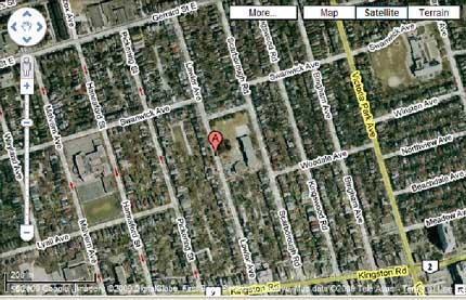 Map of Lawlor Avenue