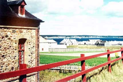 French fortress at Fortress Louisbourg