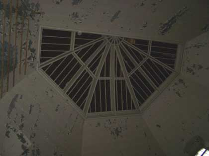 Inside the Old Don Jail In Toronto. Rotunda ceiling